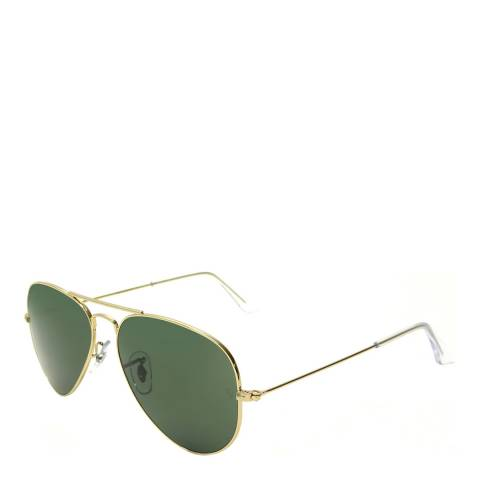 Ray-Ban Unisex Gold Aviator Sunglasses