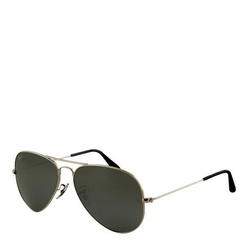 Ray-Ban Unisex Silver Aviator Sunglasses 58mm