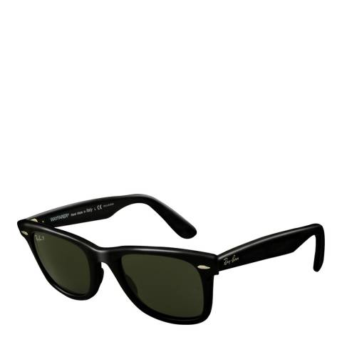 Ray-Ban Unisex Black/Grey/Green Original Wayfarer Sunglasses 50mm
