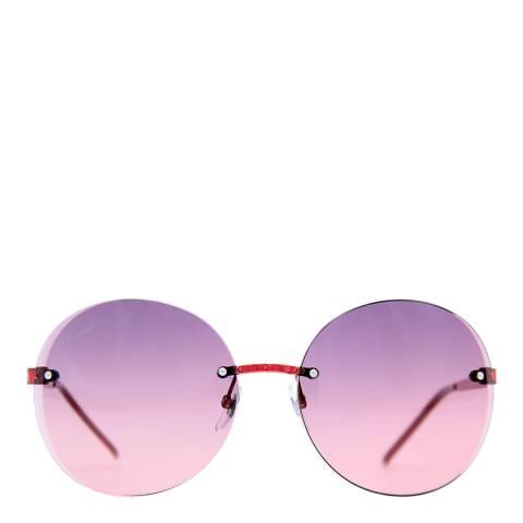 Gucci Women's Shiny Red Sunglasses 59mm