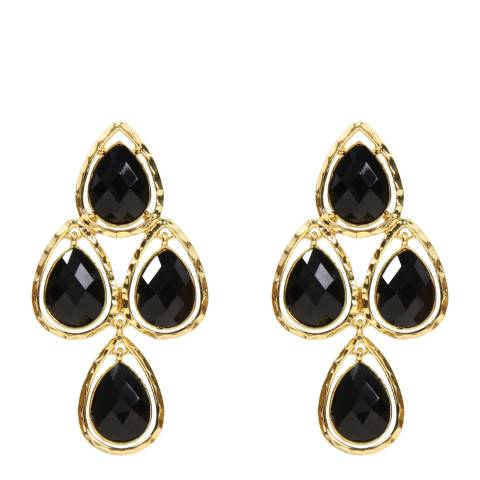 Amrita Singh Gold/Black Sagaponack Chandelier Earrings