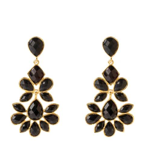 Amrita Singh Black/Gold Nello Drop Earrings