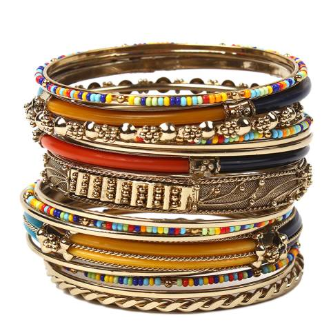 Amrita Singh Multi Coloured Monaco Bangle Set
