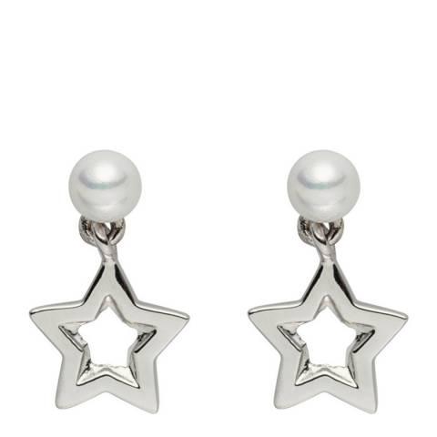 Pearls of London White Pearl Star Drop Earrings 5mm