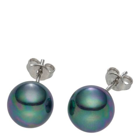 Pearls of London Green Pearl Stud Earrings