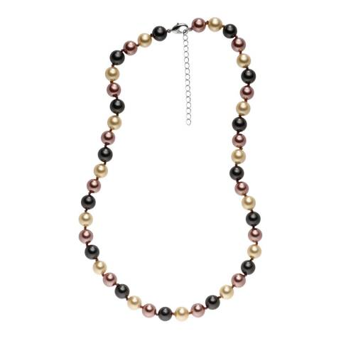 Pearls of London Dark Grey/Dark Brown Pearl Necklace