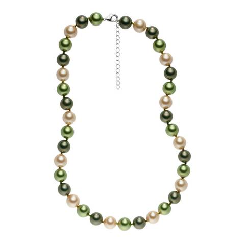 Pearls of London Green/Light Green Pearl Necklace 43cm