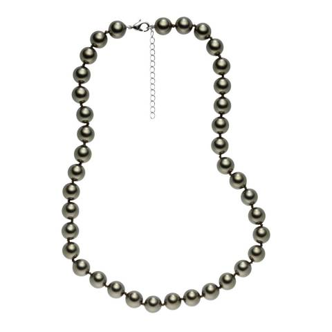 Pearls of London Light Grey Pearl Necklace 10mm