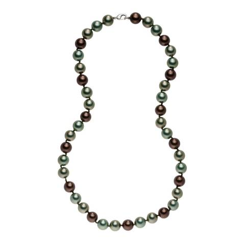 Pearls of London Light Brown/Multicolour Pearl Necklace
