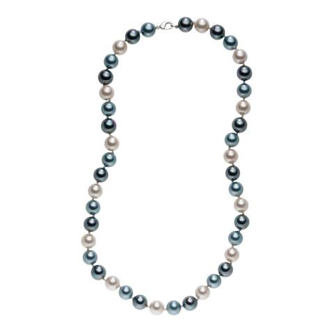 Pearls of London Silver/Dark Grey Pearl Necklace 50cm