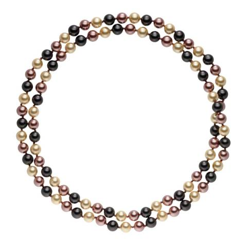 Pearls of London Dark Grey/Dark Brown Pearl Long Necklace