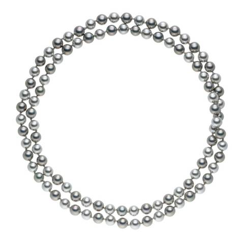 Pearls of London Silver/Grey Pearl Long Necklace