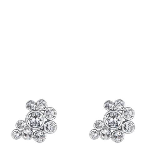 Lilly & Chloe Silver Swarovski Crystal Elements Cluster Stud Earrings