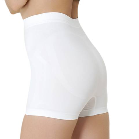 Formeasy White Low Waist Short Leg Shaper