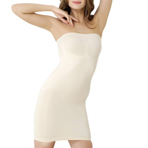 Formeasy Beige Straples Body Shaper with Skirt