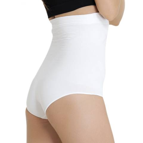Formeasy White High Waist Slip Shaper with Bracket