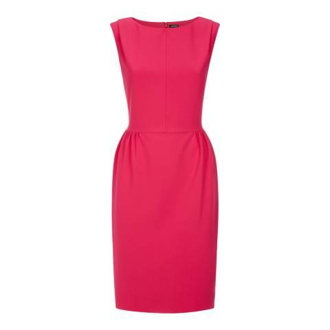 Jaeger Pink Sleeveless Stretch Crepe Dress