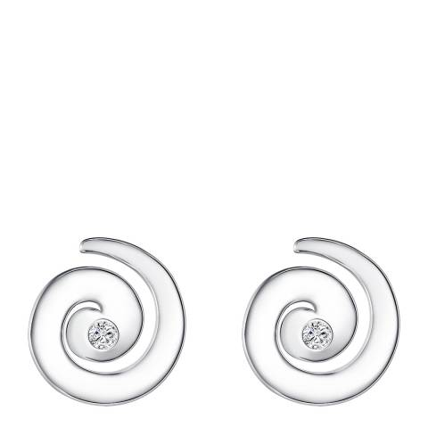Tess Diamonds Silver Diamond Swirl Stud Earrings