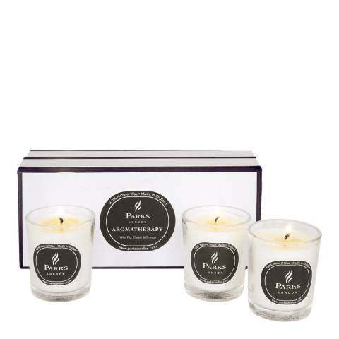 Parks London Set of Three Wild Fig/Cassis/Orange Blossom Scented Candles