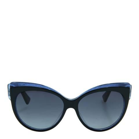 Christian Dior Women's Black/Blue Glitter Cat's Eye Sunglasses