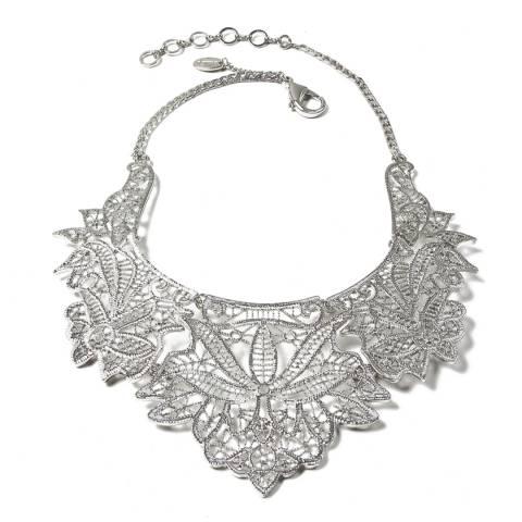 Amrita Singh Silver Athena Collar Necklace