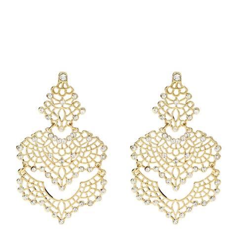 Amrita Singh Gold Izabella Crystal Statement Earrings