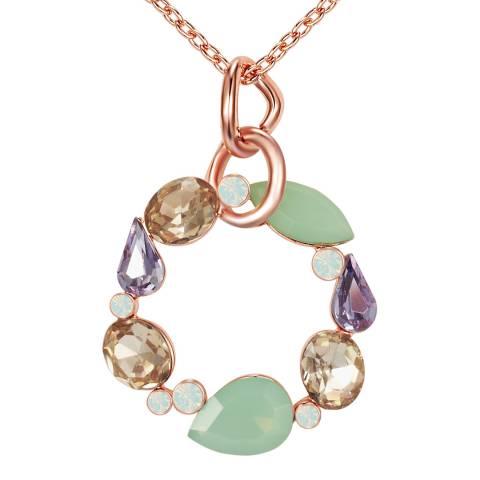 Lilly & Chloe Rose Gold/Multi Swarovski Crystal Elements Open Circle Necklace