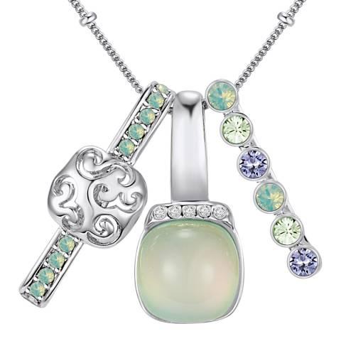 Lilly & Chloe Silver/Pale Green Swarovski Crystal Elements Multi Pendant Necklace