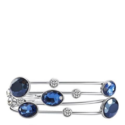 Saint Francis Crystals Silver/Blue Crystal Bangle