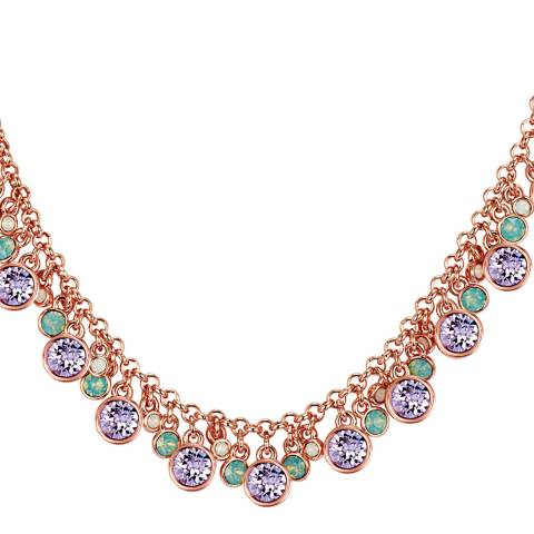 Lilly & Chloe Rose Gold/Multicolour Swarovski Crystal Elements Pendant Necklace
