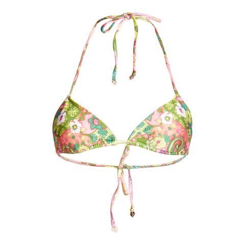 Wildfox Multicolour Floral Classic Tie Bikini Top