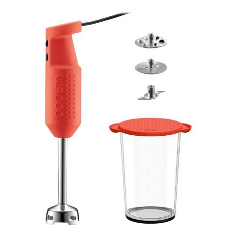 Bodum Red Bistro Stick Blender Set