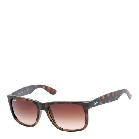 Ray-Ban Unisex Matte Brown Justin Sunglasses 54mm