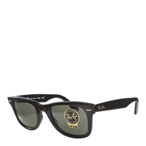 Ray-Ban Unisex Black/Grey Wayfarer Sunglasses 50mm