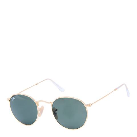 Ray-Ban Unisex Gold Round Sunglasses 47mm