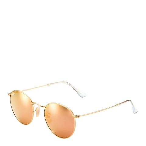 Ray-Ban Unisex Matte Gold Sunglasses 50mm