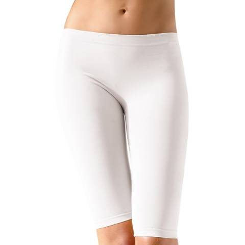Controlbody White Mid Length Shorts