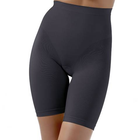 Controlbody Black High Waisted Thigh Shaping Shorts