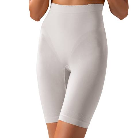 Controlbody White Gold High Waisted Mid Length Shorts