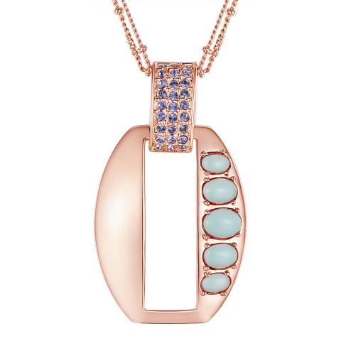 Lilly & Chloe Rose Gold/Multi Swarovski Crystal Elements Pendant Necklace