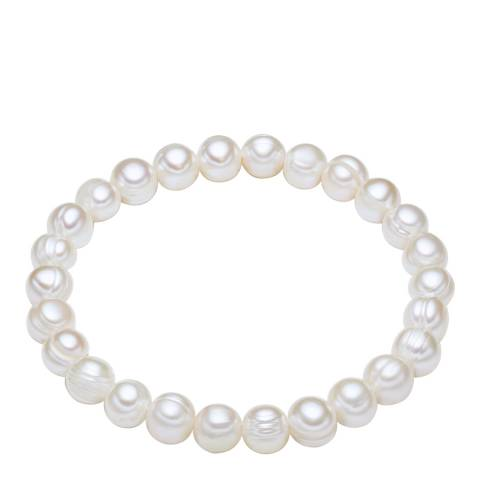 The Pacific Pearl Company White Freshwater Pearl Bracelet