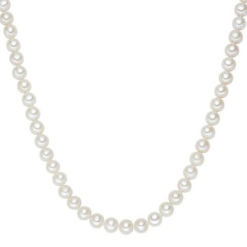 The Pacific Pearl Company White Sterling Silver Fresh Water Cultured Pearl Necklace
