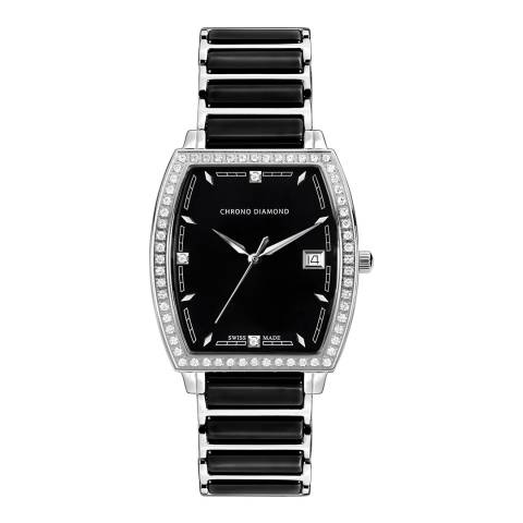 Chrono Diamond Women's Black Ceramic Leandra Watch