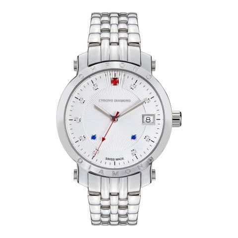Chrono Diamond Women's Swiss Silver Diamond Nesta Watch