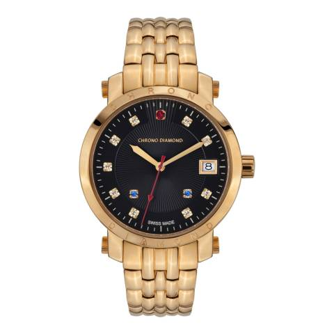 Chrono Diamond Women's Swiss Gold Nesta Diamond Watch