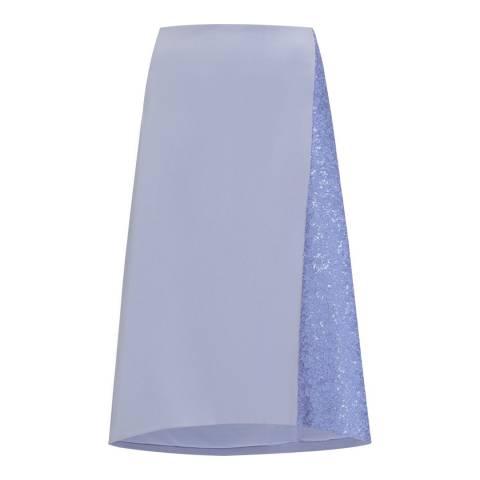 WHISTLES Lilac Shina Embellished Stretch Skirt