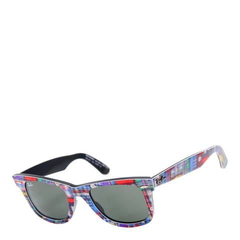 Ray-Ban Unisex Plaid/Black Original Wayfarer Sunglasses 50mm