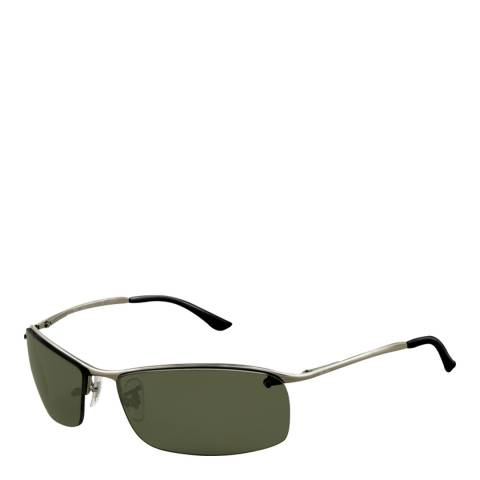 Ray-Ban Women's Silver/Green Sunglasses 63mm