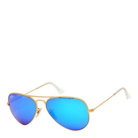 Ray-Ban Unisex Gold Aviator Sunglasses 58mm