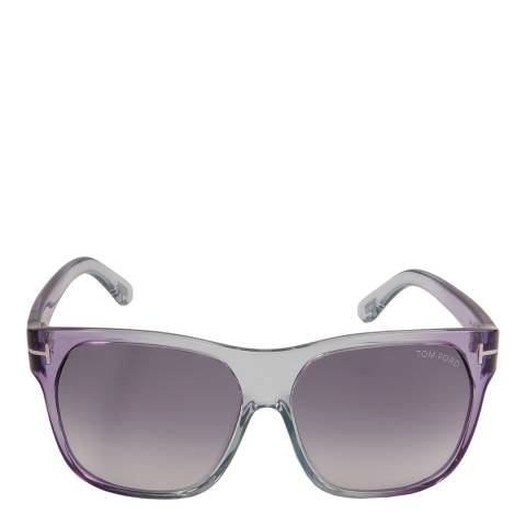 Tom Ford Women's Grey/Violet Federico Sunglasses 58mm